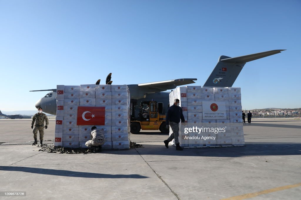Turkey sends medical aid to UK : News Photo