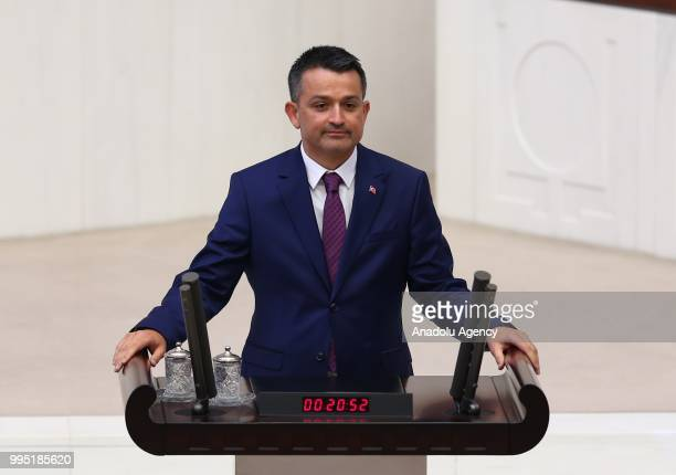 Turkey's newly appointed Agriculture and Forestry Minister Bekir Pakdemirli swears in at the Grand National Assembly of Turkey in Ankara, Turkey on...