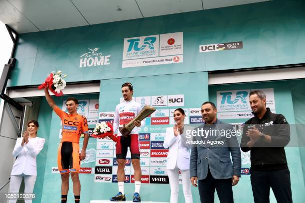 Turkey's Onur Balkan poses for a photo after he won Turkey's Beauties classification for the second time in his career within the 54th Presidential...