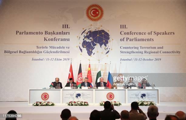 Turkey's Parliament Speaker Mustafa Sentop , Chairman of the State Duma of Russia Vyacheslav Viktorovich Volodin , Pakistani Speaker of the National...