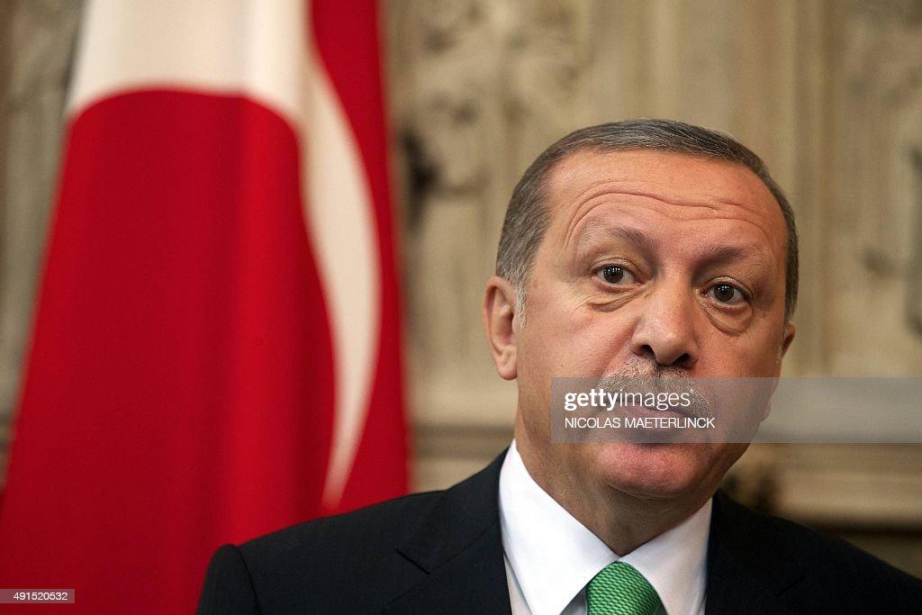 BELGIUM-TURKEY-DIPLOMACY  : News Photo