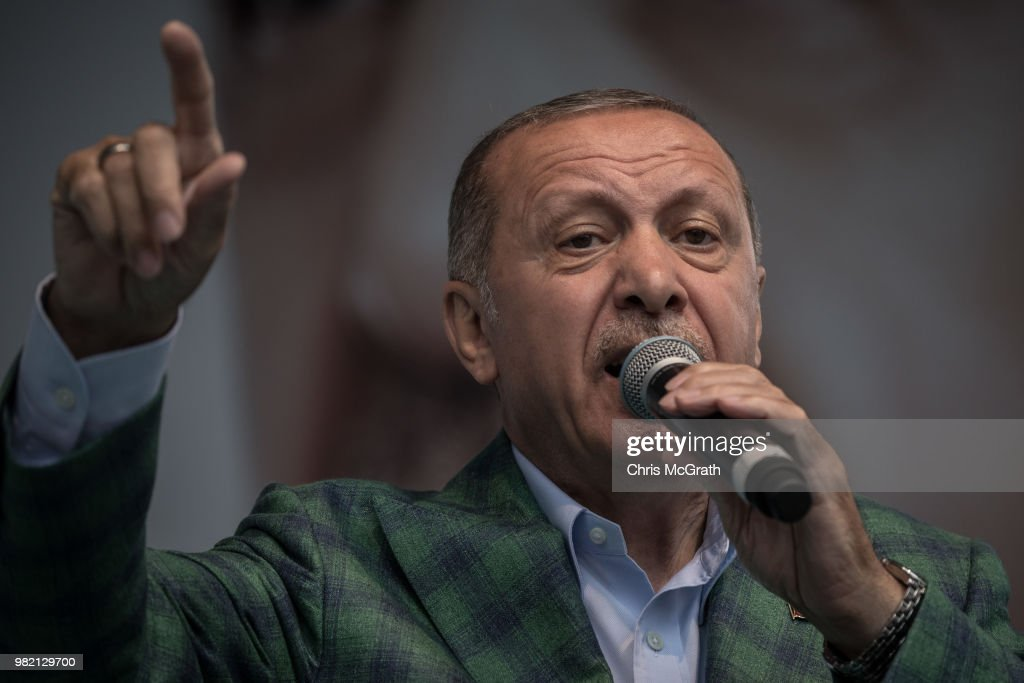 President Erdogan Campaigns In Istanbul Ahead Of Election : News Photo