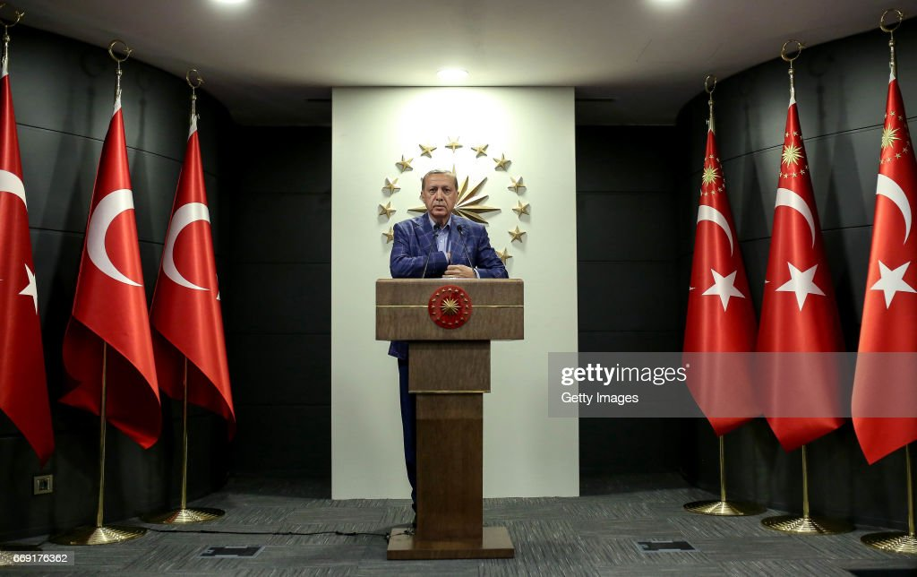 Turkey Holds A Referendum On Significant Constitutional Amendments : News Photo
