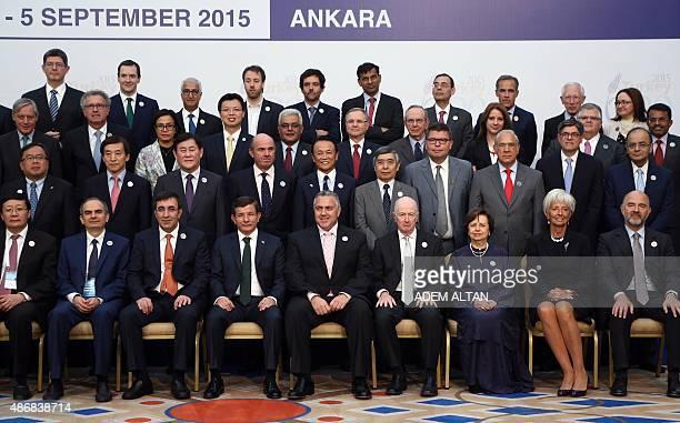 Turkey's Prime Minister Ahmet Davutoglu International Monetary Fund Managing Director Christine Lagarde European Economic and Financial Affairs...