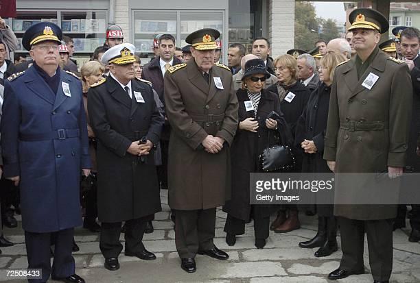 Turkey's top military officers Air Force Commander General Faruk Comert Sea Forces Commander Admiral Yener Karahanoglu Chief of Staff General Yasar...
