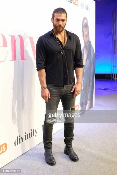 Turkish actor Can Yaman attends 'Volverte a ver' photocall on November 26 2019 in Madrid Spain