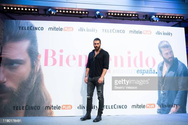 Turkish actor Can Yaman attends Volverte a ver photocall on November 26 2019 in Madrid Spain