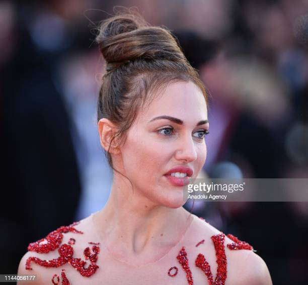 Turkish actress Meryem Uzerli arrives for the screening of the film 'Rocketman' during the 72nd annual Cannes Film Festival in Cannes France on May...