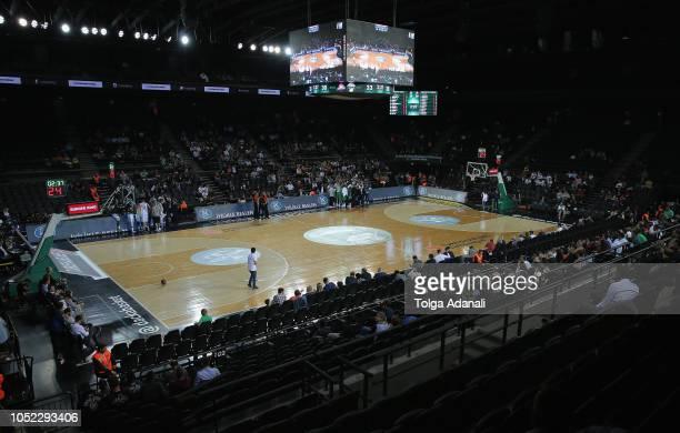 Turkish Airlines EuroLeague Regular Season Round 2 game between Darussafaka Tekfen Istanbul and Buducnost Voli Podgorica at Volkswagen Arena on...