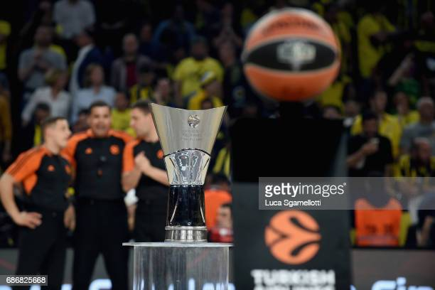 Turkish Airlines EuroLeague Trophy before Championship Game 2017 Turkish Airlines EuroLeague Final Four between Fenerbahce Istanbul v Olympiacos...