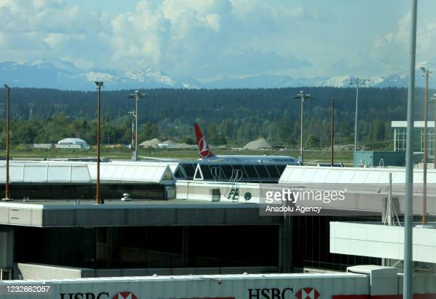Turkish Airlines flight TK75 lands at Vancouver International Airport on May 2021 in Vancouver, British Columbia, Canada. Turkish Airlines' service...