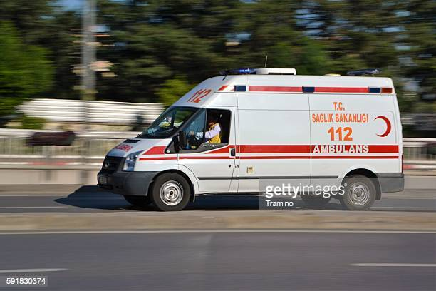 Turkish ambulance in motion