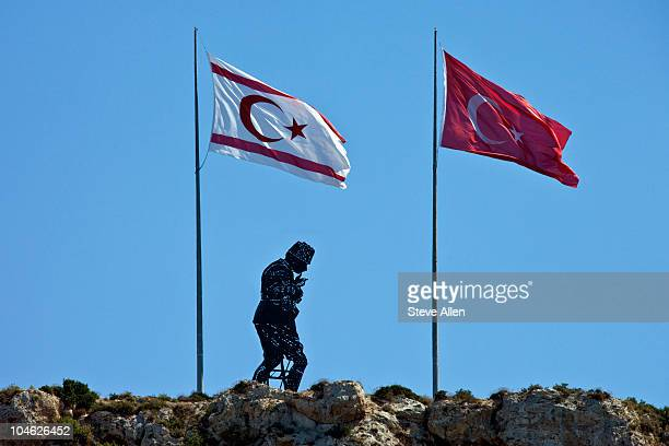 Turkish and TRNC flags