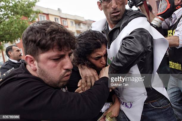Turkish anti-riot police attempt to disperse protesters at a May Day rally in Istanbul's Bakirkoy district on May 1, 2016 in Istanbul, Turkey....