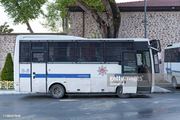 Turkish anti-riot police bus