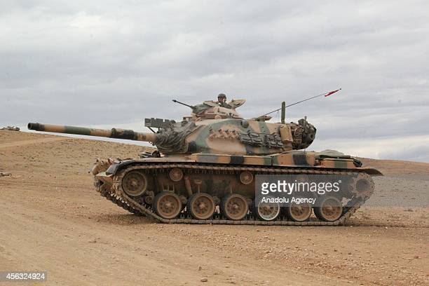 Turkish Armed Forces dispatches a group of tanks to close of the Turkish Syrian border as the clashes near to the Turkish borderline intensified...