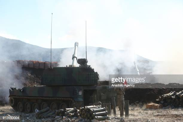 Turkish Armed Forces' domestic production howitzers continue to hit PYD/PKK terror group targets within the 'Operation Olive Branch' launched in...