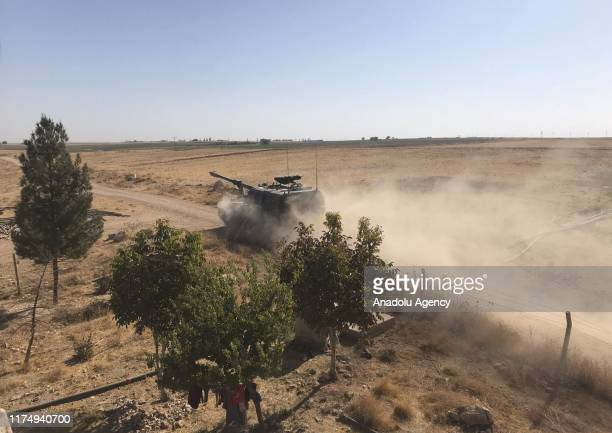 Turkish Armed Forces' howitzers deploy across Syrian town of Tell Abyad, within the Turkey's Operation Peace Spring east of Euphrates River in...