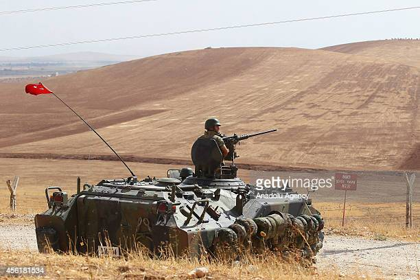 Turkish armed forces tighten security measures in southeastern province Sanliurfa at the TurkeySyria border as the clashes between Islamic State of...