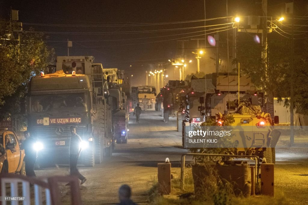 TOPSHOT-TURKEY-SYRIA-ARMY-CONFLICT-KURDS : News Photo