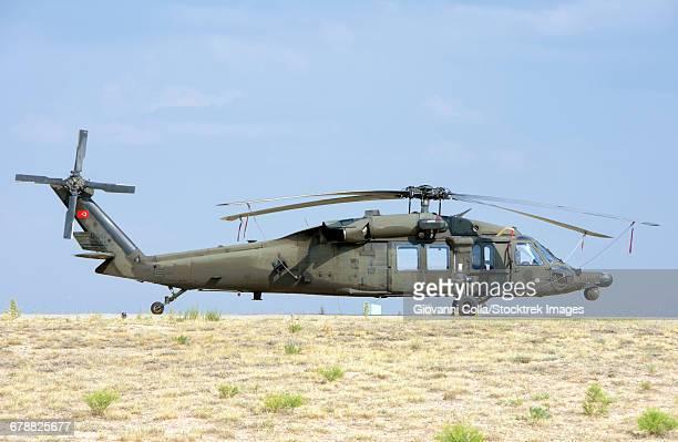 Turkish Army UH-60 Blackhawk for Speical Forces during Exercise Isik 2016, Konya, Turkey.
