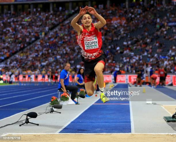Turkish athlete Can Ozupek competes in triple jump final during the 2018 European Athletics Championships in Berlin Germany on August 12 2018
