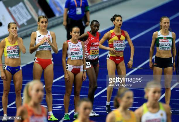 Turkish athlete Yasemin Can prepares to compete during the women's 10000m final race during the third day of the 2018 European Athletics...