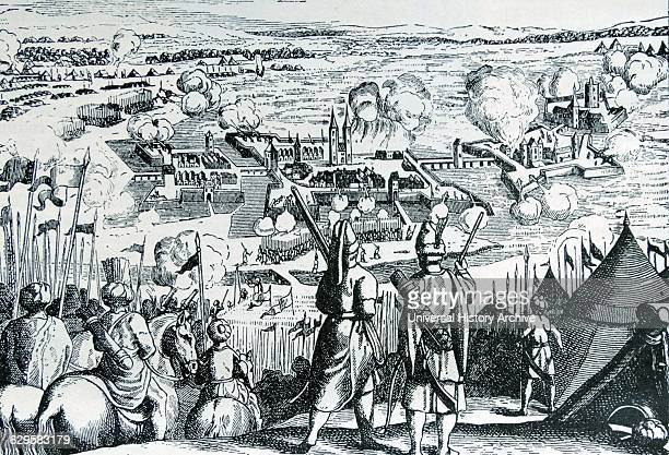 Turkish attack on the river fortress of Szigetvár in southern Hungary