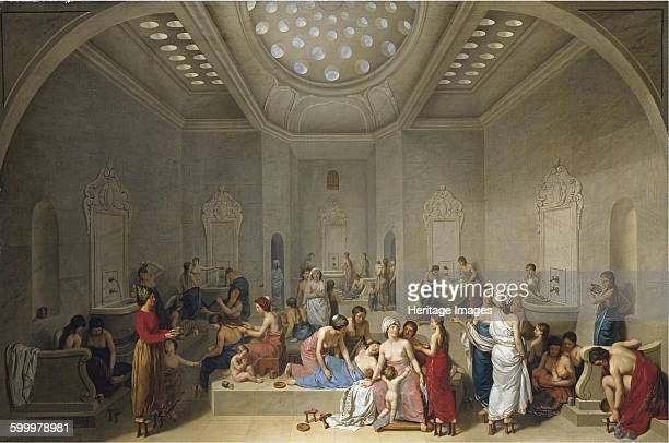 Turkish Bath 1785 Private Collection Artist Le Barbier JeanJacquesFrançois