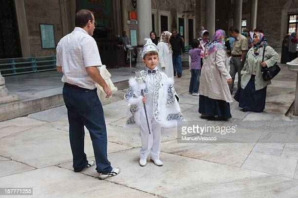 turkish boy ready for circumcision - circumcision stock pictures, royalty-free photos & images