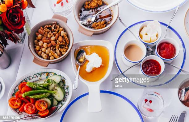 turkish breakfast - spread food stock pictures, royalty-free photos & images