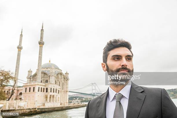 Turkish businessman portrait at Bosphorous Istanbul