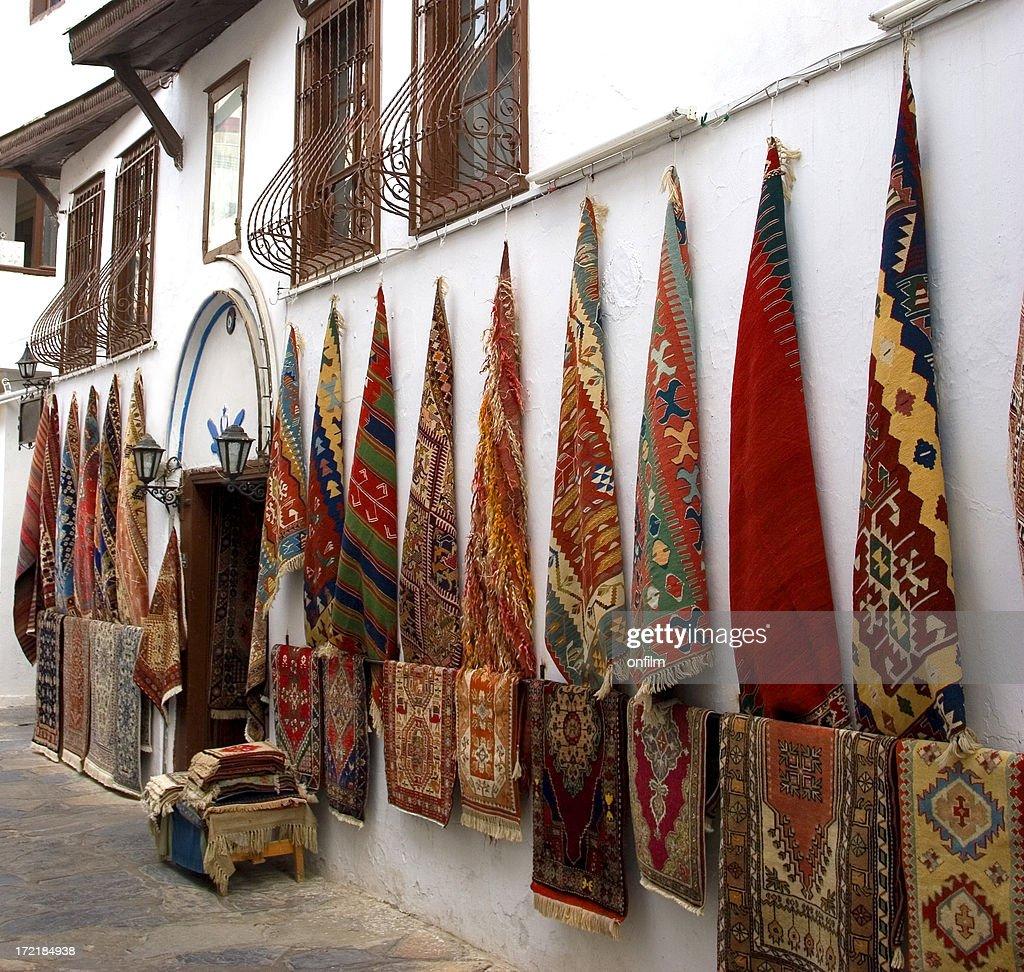 Turkish Carpet Shop Stock Photo