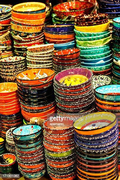 Cerámica turco en el Grand Bazaar Istambul