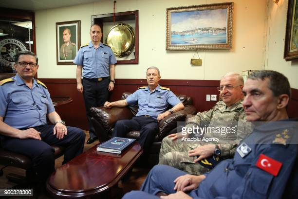 Turkish Chief of General Staff Hulusi Akar Commander of the Turkish Land Forces Yasar Guler Commander of the Turkish Air Forces Hasan Kucukakyuz and...