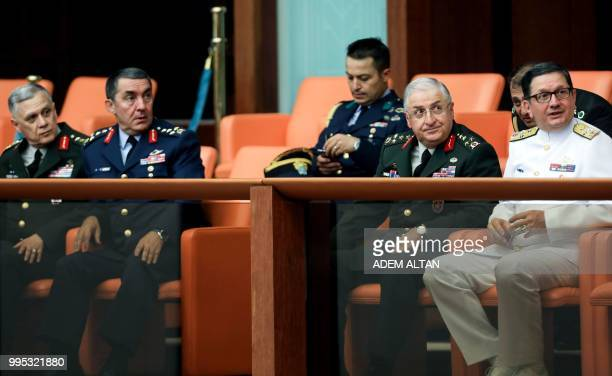 Turkish Chief of General Staff Yasar Guler Commander of the Turkish Land Forces Umit Dundar Commander of the Turkish Air Forces Hasan Kucukakyuz and...