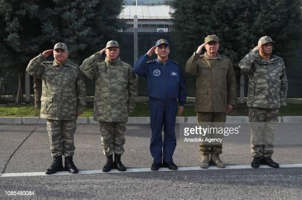 Turkish Chief of General Staff Yasar Guler Land Forces Commander Umit Dundar Air Forces Commander Hasan Kucukakyuz and Naval Forces Commander Adnan...