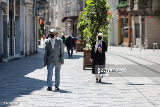 Turkish citizens who are older than 65yearold on Street during the curfew in Istanbul Turkey on May 24 2020 Turkey has allow that for 6 hours today...