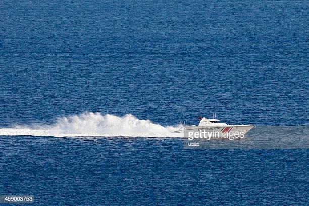 Türkische Coast Guard Boot wird, high-speed