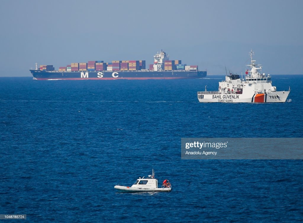 Turkish Coast Guard conducts a search and rescue operation after a