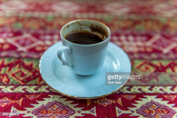 turkish coffee in cup - mosaic stock photos and pictures