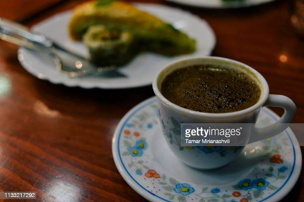 Turkish Coffee with Baklava
