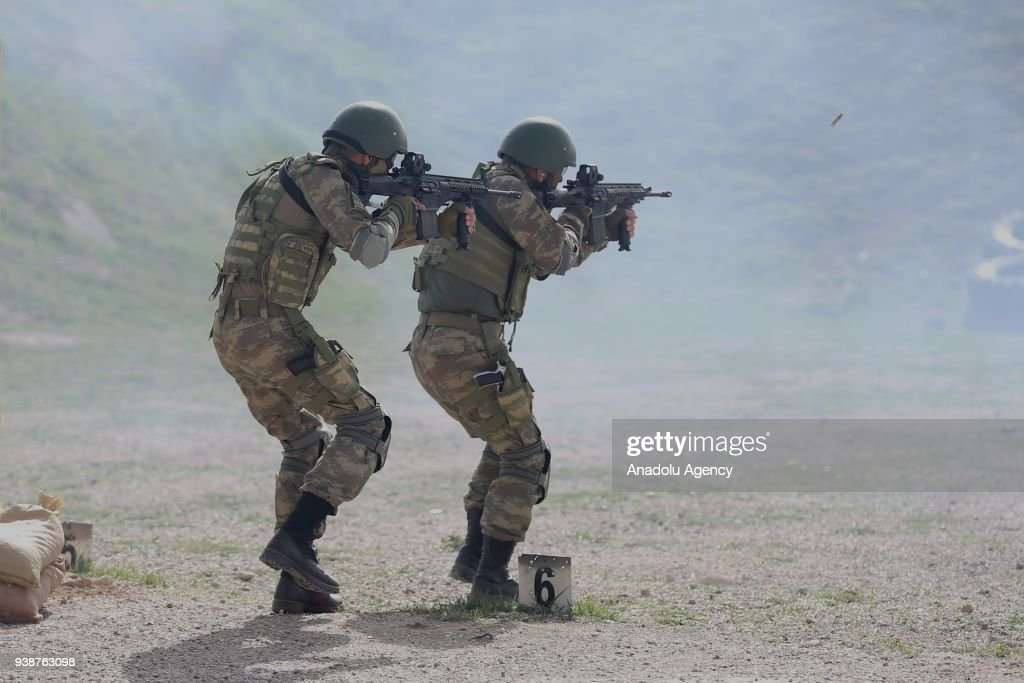 turkish commandos in military exercise pictures | getty images