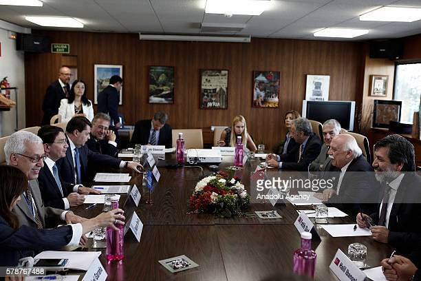 Turkish Culture and Tourism Minister Nabi Avci and United Nation's World Tourism Organization Secretary General Taleb Rifai attend bilateral meeting...