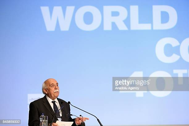 Turkish Culture and Tourism Minister Nabi Avci delivers a speech during opening ceremony of the UNESCOs World Heritage Committee 40th session at the...