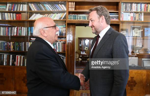 Turkish Culture and Tourism Minister Nabi Avci meets Bosniak member of Bosnia Herzegovina's Tripartite Presidency Bakir Izetbegovic in Sarajevo...