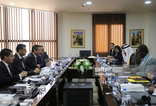 Turkish Cypriot's Foreign Minister Tahsin Ertugruloglu meets with Secretary General of Organization of Islamic Cooperation Yousef bin Ahmad...