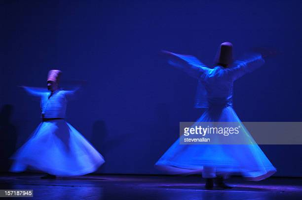 turkish dancers - sufism stock photos and pictures