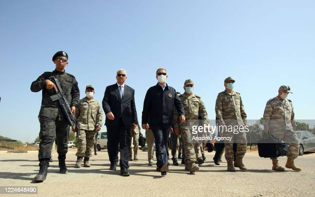 Turkish Defense Minister Hulusi Akar visits operations centre with Interior Minister of Libyaâs Government of National Accord , Fathi Ali Bashagha...