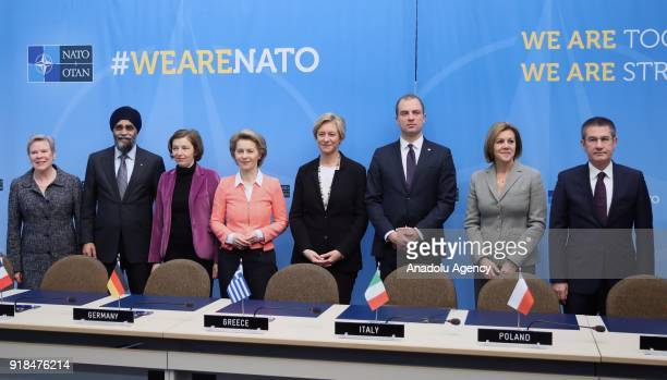 Turkish Defense Minister Nurettin Canikli Spain's Defence Minister Maria Dolores de Cospedal Polish Defence Minister Mariusz Blaszczak Italian...